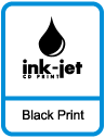 CD and DVD Black ink-jet Printing